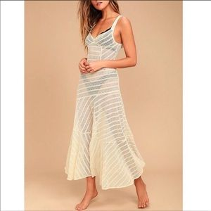 free people love story cream lace maxi dress